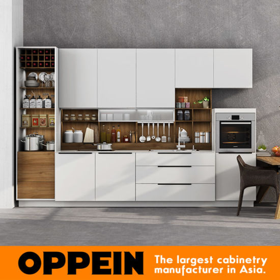 2017 White Lacquer 360cm Standard Modular Kitchen Cabinet (OP17-L01) pictures & photos
