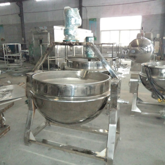 Stainless Steel Electric Heating Soup Cooking Pot Food Jacketed Kettle