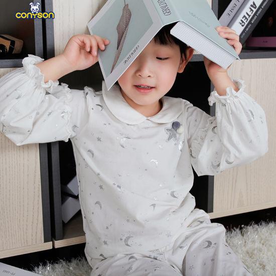 2020 Wholesale 100% Cotton Moon and Star Printed Peter Pan Collar Girls Shirts