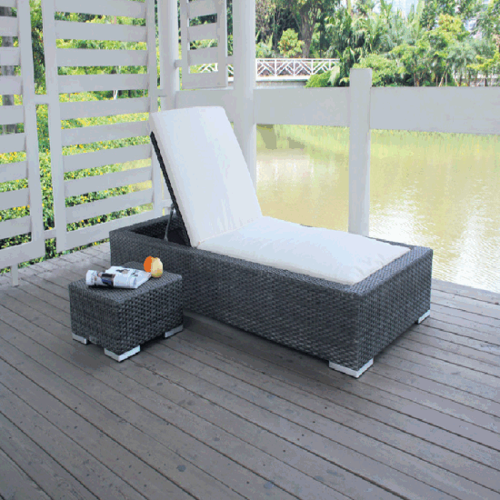 All Weather Garden Poolside Beach Rattan Daybed