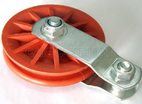 "3.5"" Plastic/Nylon Rope Pulleys /Poultry Equipment Parts, Red"