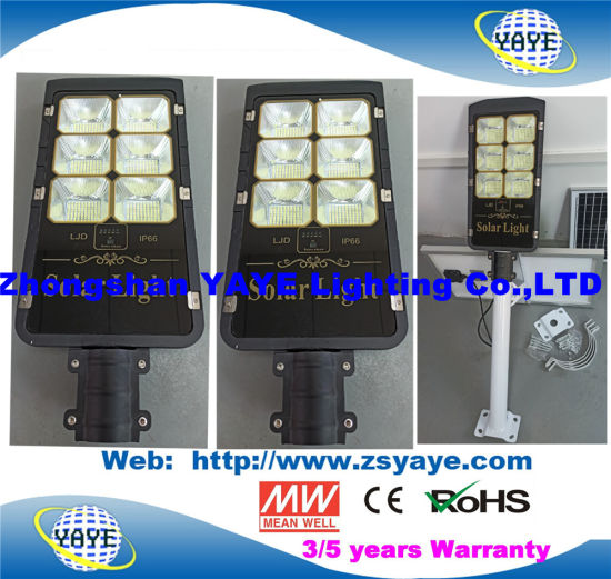 Yaye 18 Hot Sell Newest Design Solar LED Street Light /LED Road Lamp with 300W/200W/150W/100W/80W/50W