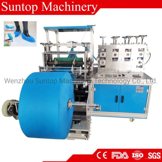 PP Non Woven and Plastic Disposable Shoe Cover Making Machine