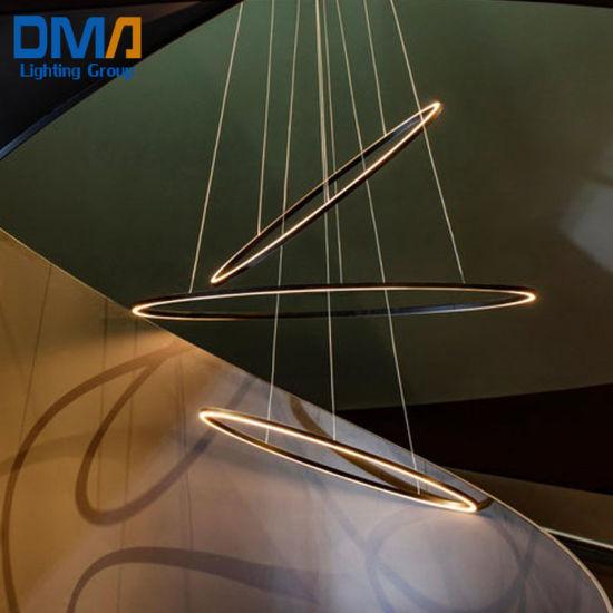 Wm Lighting up and Down Light Ellisse Pendant Triple Light Hang Lamp