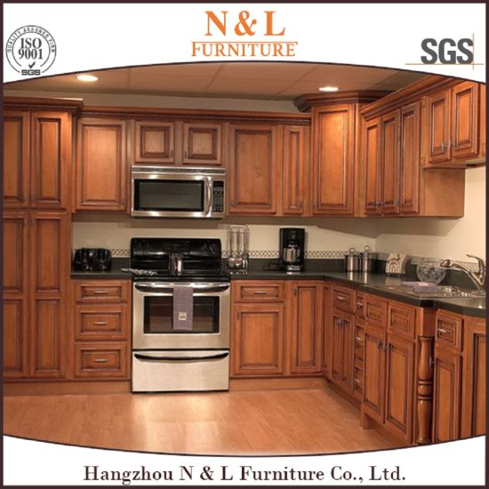 Elegant L Shaped Solid Wood Kitchen Cabinets Latest: China N&L Fueniture Custom-Made Newest White Paint Solid