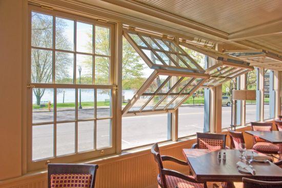 Aluminium Vertical Folding Door and Window Push up Fold up Window