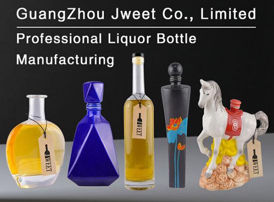 Porcelain Ceramic Handpaint 750ml Vodka Glass Liquor Bottle for Tequila Whiskey Brandy Gin Rum Wine