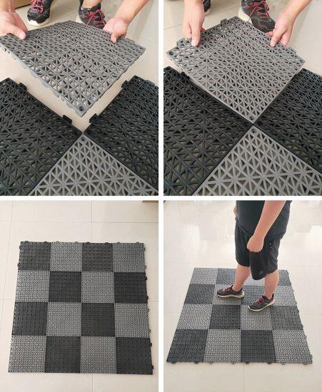 Fashinable Grid Drainage Bathroom, Interlocking Floor Tiles Bathroom