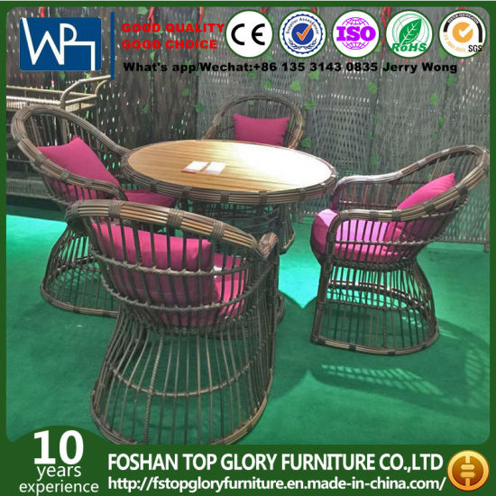 Patio Wicker Armchairs Dining Table Sets Rattan Tg Hl804