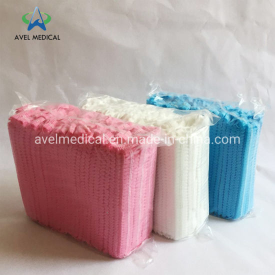 SBPP and SMS Nonwoven Disposable Head Cap with Different Color and Size PP Nonwoven Clip Cap Head Cap