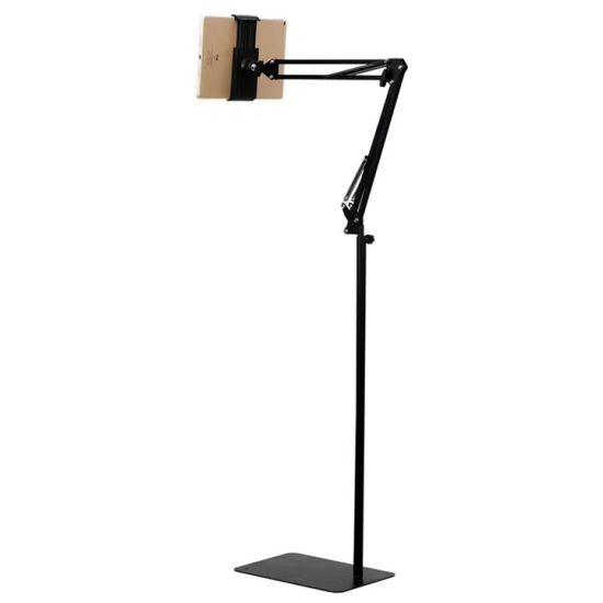 Lz-025 175cm Tall Floor Stand Adjustable Telescopic Cellphone Tablet Holder