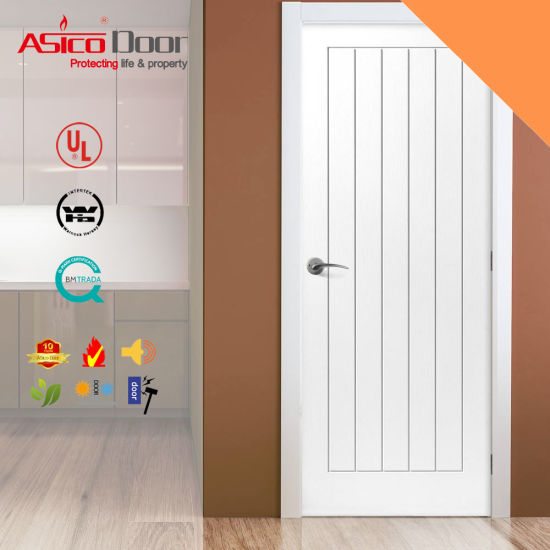 Good Sound Insulation Wooden Doors With Asico Design