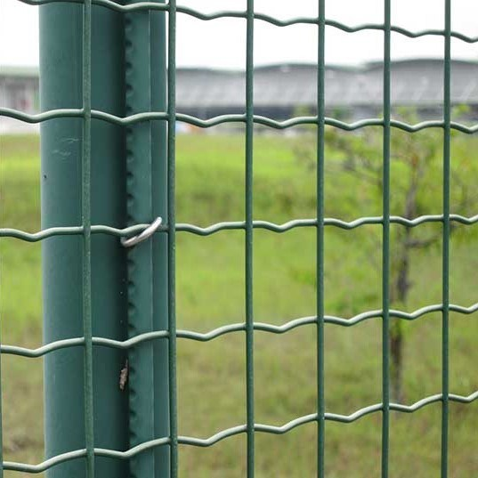 Green PVC Welded Wire Steel Mesh Euro Fence