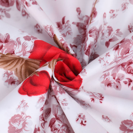 New Flower Pigment Printed Polyester Fabric of Bedding Sheet