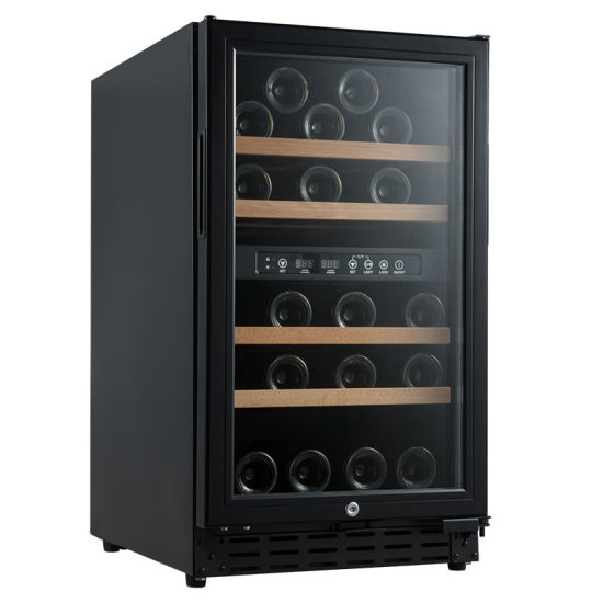 New Listing 32-Bottle Wine Cooler Glass Door Wine Chiller Fridge Refrigerator