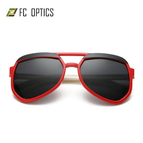 Fcsok1504 Wenzhou FC Tpee Full Rim Frame Wholesale Retro Eyebrow Kids  Double Bridges Flexible Glass Eyeglass Designs Frames Sunglasses
