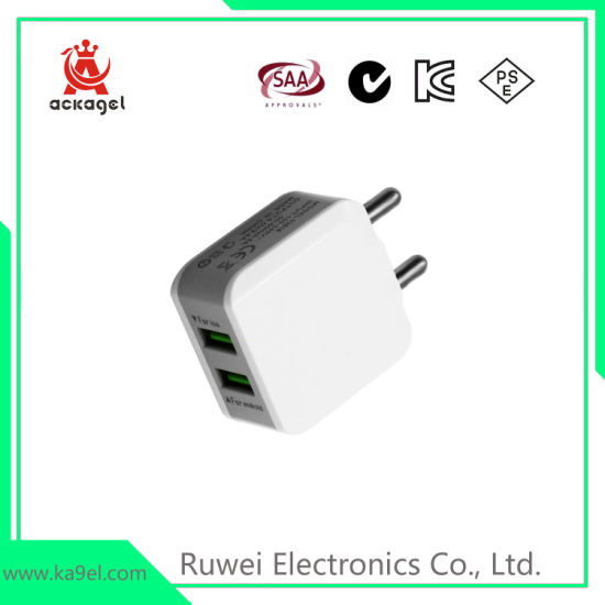 Universal Cell Phone Accessories Indian Pins USB Charger Plug