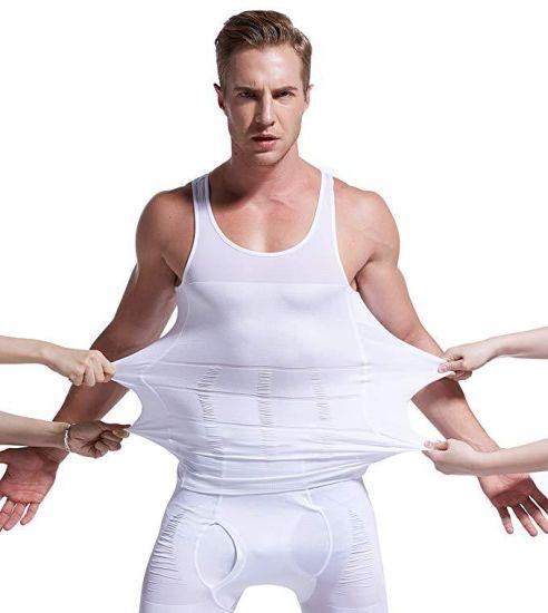 2019 New Fashion Men Slim Body Shaper Vest Tops Shirt Tummy Waist Underwear Beer Belly Slimmer