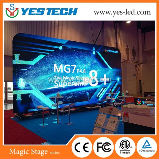 Outdoor P4.8 Full Color LED Display Screen LED Video Wall for Wedding/Meeting/Event/Advertising/Stage
