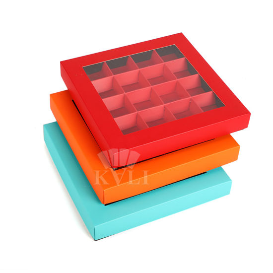 Promotional More Color Eco-Friendly Paper Chocolate Gift Packaging Box with Paper Divider