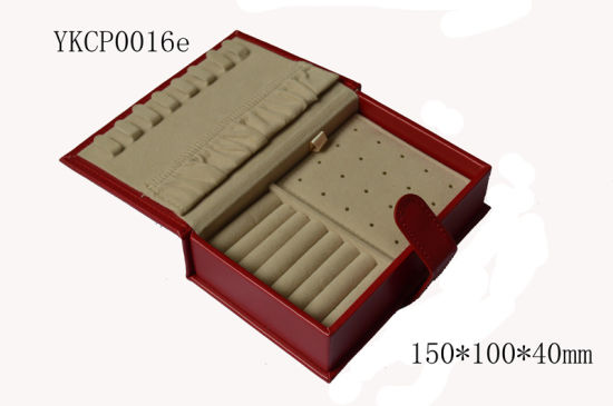 Square PU Sewing Gift Packaging Leather Ring Earring Pendant Jewelry Box