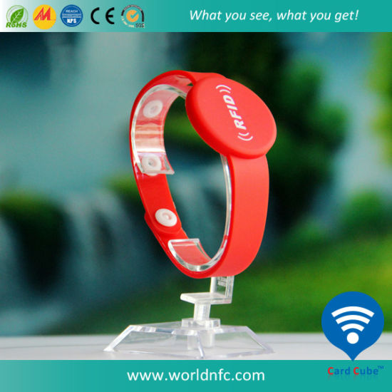 RFID Bracelet / Custom RFID Rubber Silk Screen Printed Silicone Slap Smart Bracelet Customized Engraved USB Mosquito Imprinted Debossed Silicon Bracelet