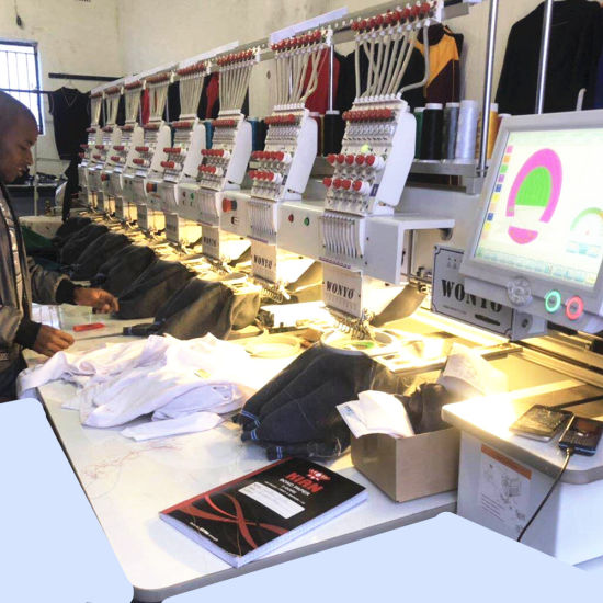 China Made High Efficiency Industrial Cap Flat Garment Functions 8 Head Computer Embroidery Machine