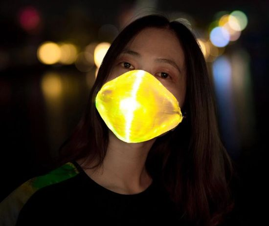 Luminous LED Rave Mask Halloween Light up Mouth-Muffle Christmas Fiber Optic Gauze Mask pictures & photos