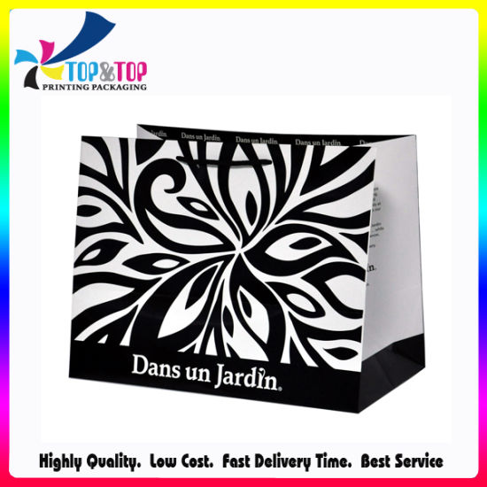 Ribbon Handle Coated Paper Shopping Bag pictures & photos