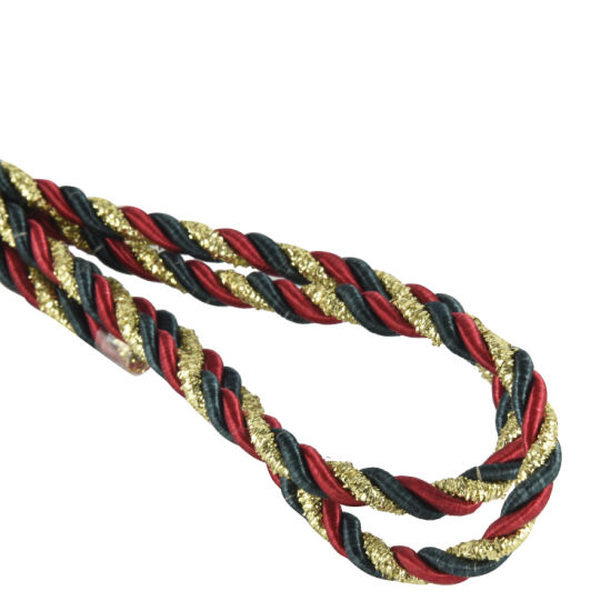 Metallic Twisted Rayon Satin Rope Silk Braid Cord - 3 Ply Twist pictures & photos