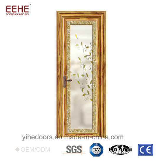 China Good Quality Aluminum Glass Doors Frosted Glass Interior