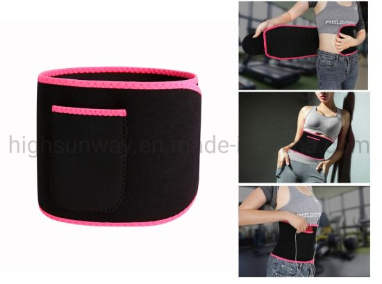 Phone Pocket Sports Fitness Waist and Back Guard Adjustable Waist Trimmer Belt Loss Weight Adjustable Body Shaper Sports Back Pain Relief Waist Trainer