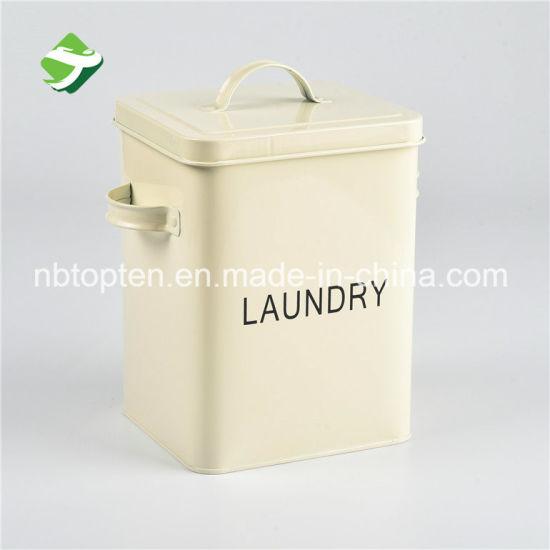 China Galvanized Steel Bread Tea Laundry Storage Can China Tin