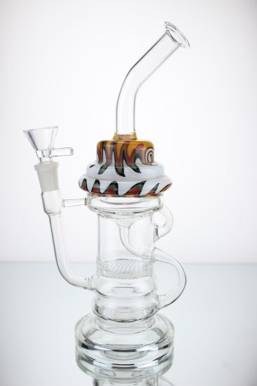 Mixed Color Pipe Smoking Water Pipe Recycle Glass Water Pipe