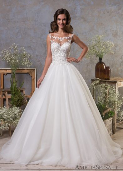 China Top Quality Wholesale 2018 Sheer Applique Lace Wedding Gown ...