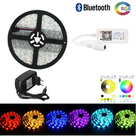 10M 5050 RGB SMD Waterproof LED Strip Light Bluetooth WiFi Remote 12V Power 1//5M