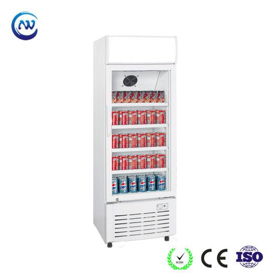 Single Glass Door Upright Soft Drink Display Cooler (LG-350)