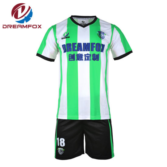 Hot Sportswear Team Cheap 100% Polyester Sublimated Soccer Uniforms Jersey pictures & photos