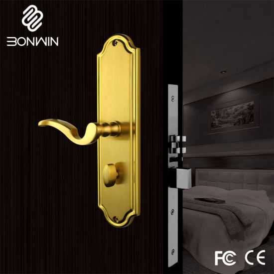 Luxury Electronic Security Door Lock with Alarm Function pictures & photos
