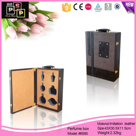 Customize Delicate Inserts Leather Perfume Box (6590) pictures & photos