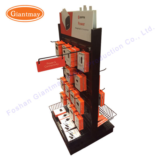 Exhibition Stand Accessories : China double sides floor slatwall display stand for mobile