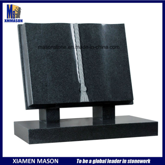 Chinese Granite Open Book Shape Headstones for Graves