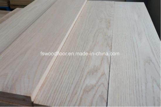 China Unfinished Solid Oak Wood Hardwood Flooring From Guangzhou
