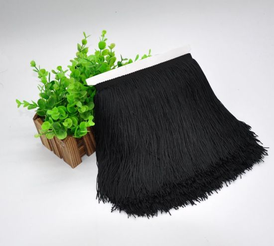20cm Wholesale Black Colorful Fringe Lace for Stage Latin Dancing Dress