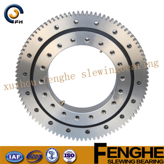 Single-Row Four Point Contact Slewing Bearing - No Gear pictures & photos