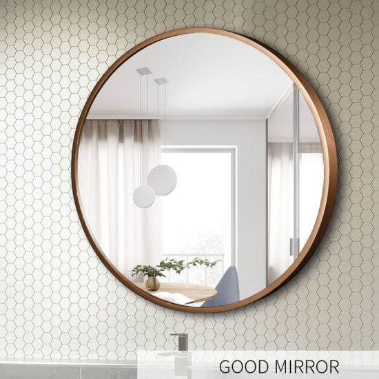 Golden Frame LED Bathroom Illuminated Mirror with Backlight