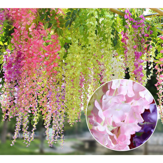 China wholesale artificial silk wisteria flower wedding china wholesale artificial silk wisteria flower wedding mightylinksfo