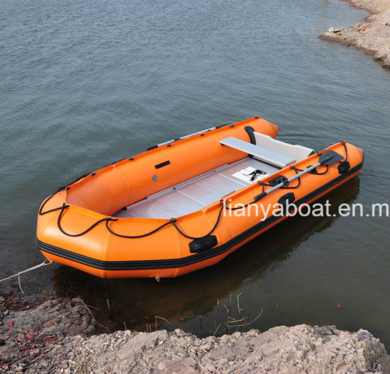 Liya 3-6m Foldable PVC Inflatable Rubber Dinghy Boat pictures & photos