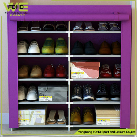 Shoe Storage Easy Assemble Double Raw Custom 100 Pair Shoe Rack & China Shoe Storage Easy Assemble Double Raw Custom 100 Pair Shoe ...