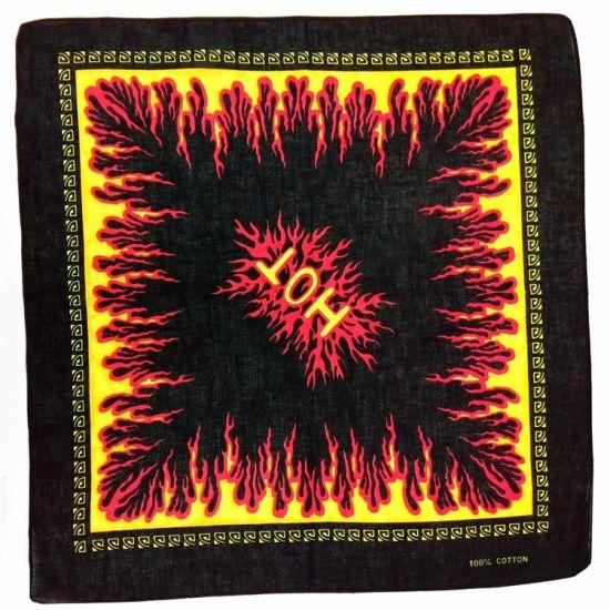 Custom Print Wholesale Kerchief Multifunctional Headwear Square 100% Cotton Bandana